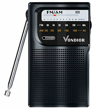AM/FM Battery Operated Portable Pocket Radio - Best Reception and Longest Lasting. AM FM Compact Transistor Radios Player