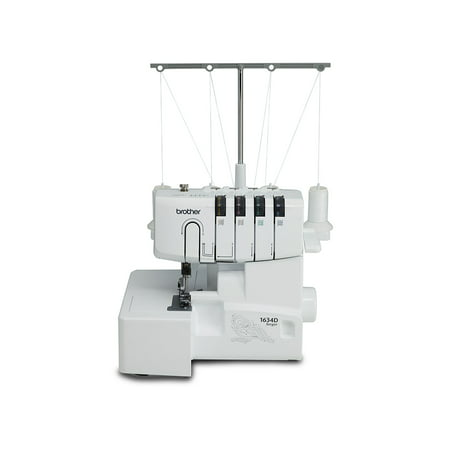 Brother 1634D 3 or 4 Thread Serger with Differential Feed Soft Cover & Accessories