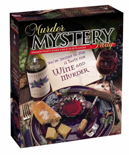 Murder Mystery Party Games A Taste for Wine and Murder, USA, Brand University Games by