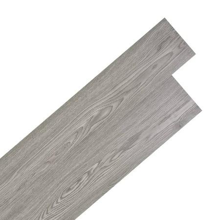 Vidaxl Self Adhesive Pvc Flooring Planks 54 Ft虏 Dark Gray
