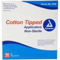 Dynarex Cotton Tipped Applicators 6 inch 1000 Each