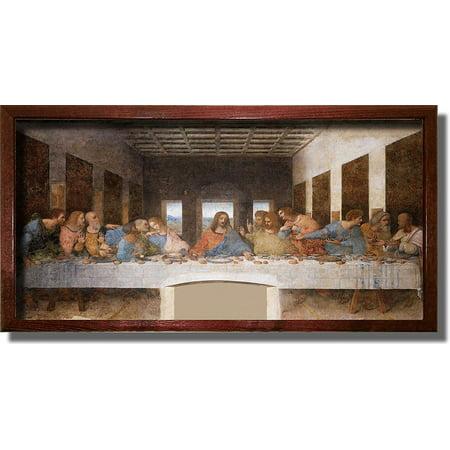 The Original Last Supper By Leonardo Da Vinci Painting Original Picture Made on Stretched Canvas Wall Art Decor Ready to (The Last Supper Leonardo Da Vinci Original)
