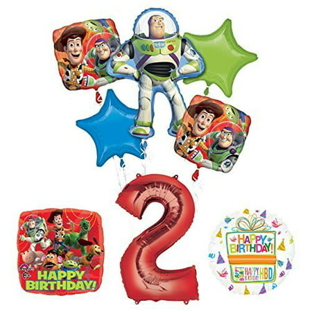 Toy Story 2nd Birthday Party Supplies and Balloon Bouquet Decorations - Balloons And Parties