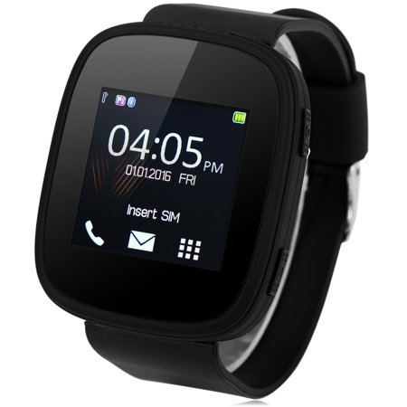 Smart Watch Phone, Unlocked Universal GSM 1.54inch Touch Screen Bluetooth 2.0 Wrist Watches Phone with Music Player Sound Recorder Heart Rate Measurement Function (Full
