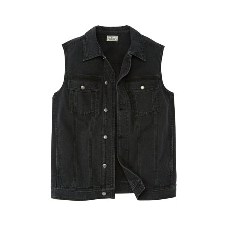 Liberty Blues Men's Big & Tall Button Front Cotton Denim - Kakadu Cotton Vest