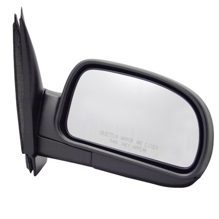 Ext Mirror - For Chevrolet Trailblazer EXT Black Manual Replacement Passenger Side Mirror (CV6409410-0R00)