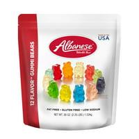 Albanese Fat-Free Gluten-Free 12 Flavor Gummi Bears, 36 oz.