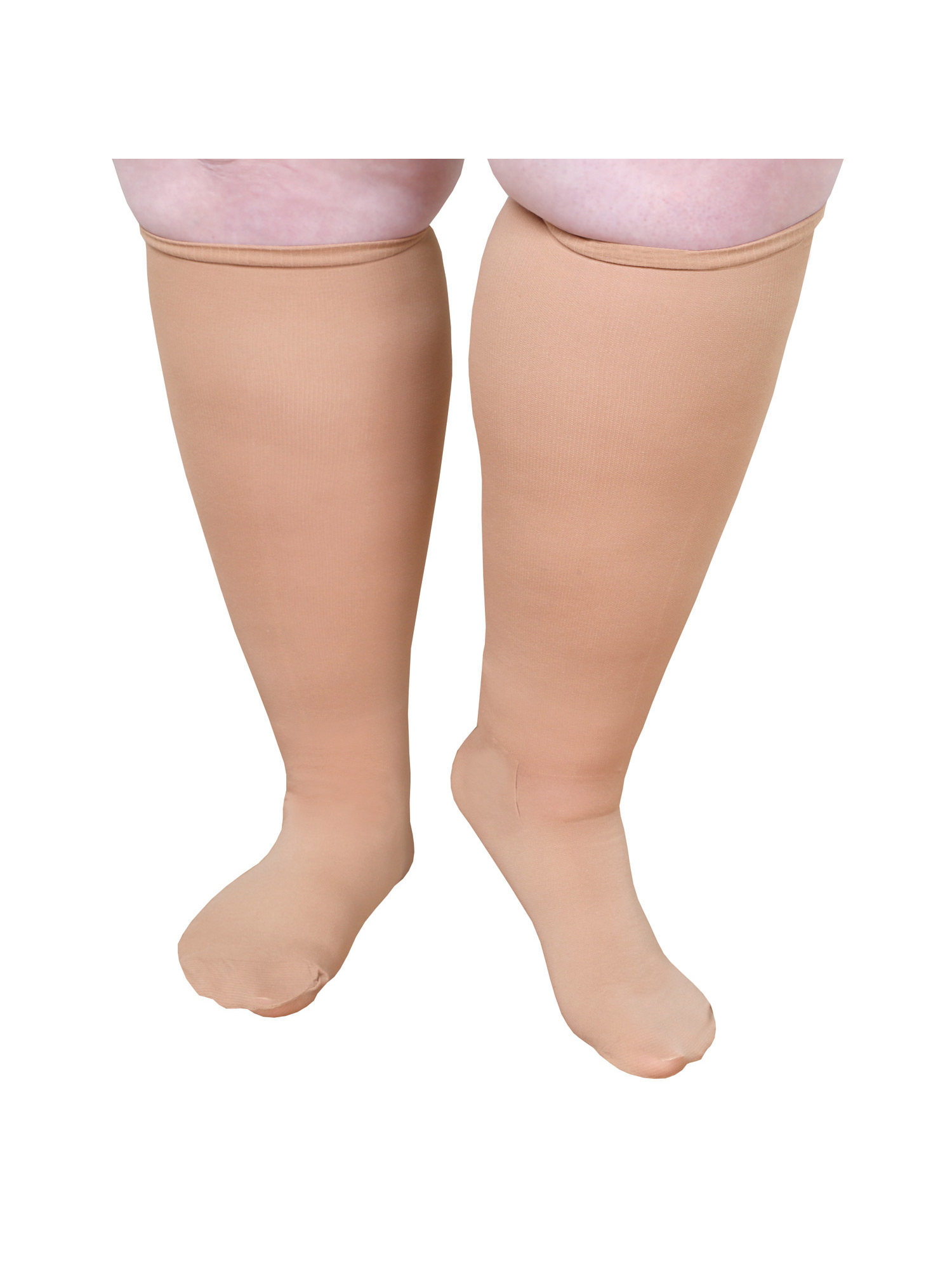 "Unisex Extra Wide Moderate Compression Knee High Socks -Up to XW / 4E & 26"" Calf"