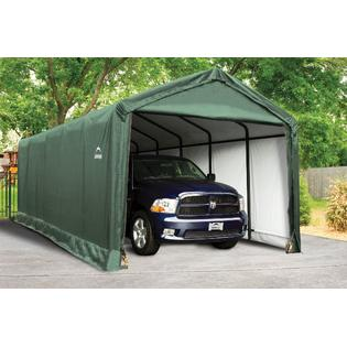 Shelter tube Storage Shelter 12x30x11 Ft. in green cover by