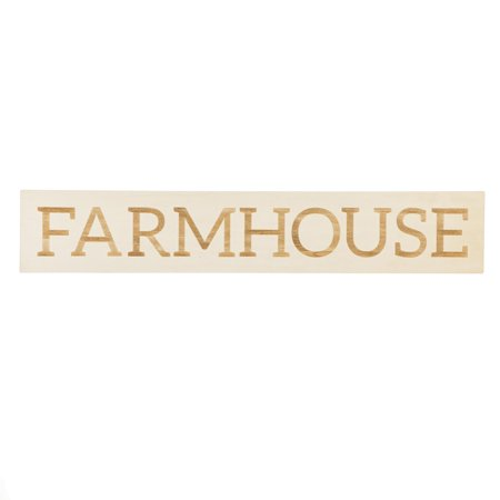 Unfinished Wood Farmhouse Sign: 35 x 6.25 inches