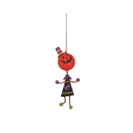 Dekorasyon Gifts & Decor Halloween Jack O Lantern Wiggly Ornament (Set of 2)