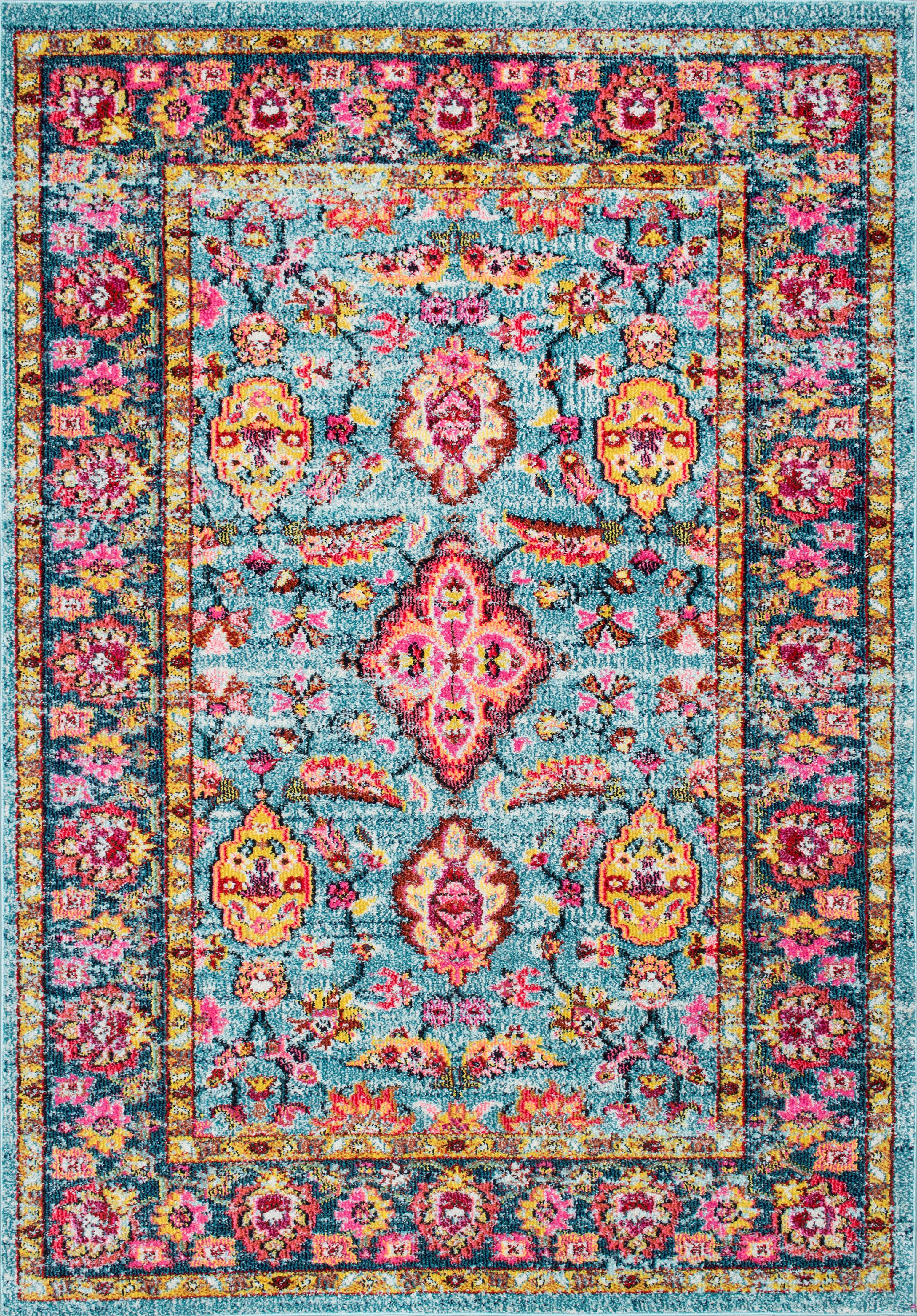 nuLOOM Floral Persian Lavenia Area Rug or Runner by nuLOOM