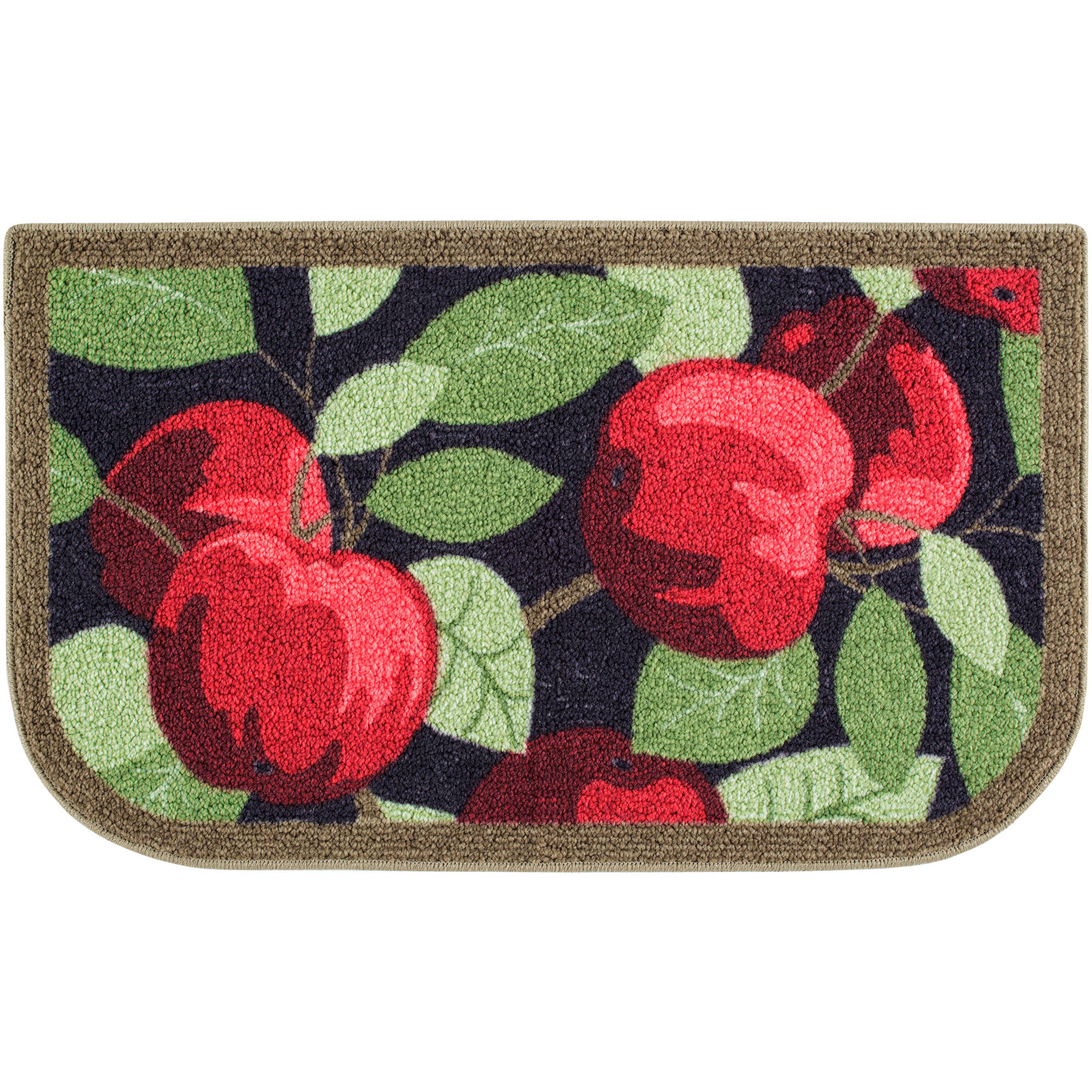 Better Homes & Gardens Red Apples Kitchen Loop Print Rug, Multiple ...