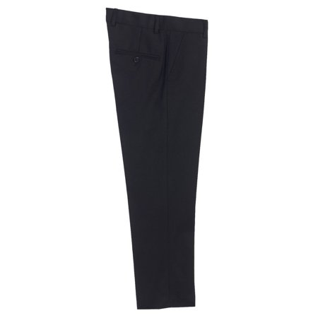 Boys Black Flat Front Formal Special Occasion Dress Pants 8-18