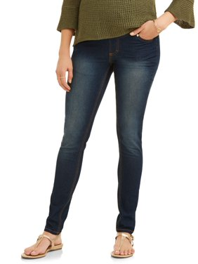 Oh! Mamma Maternity Skinny Jeans with Full Panel - Available in Plus Sizes