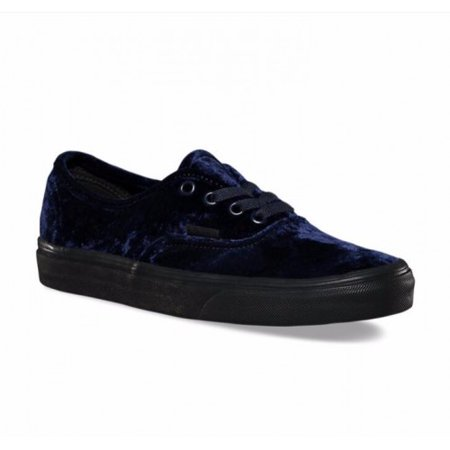Vans Authentic Velvet Navy/Black Women's Classic Skate Shoes Size 8.5](Vans Sizing Chart)