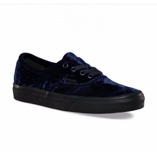 VANS - Vans Authentic Velvet Navy Black Women s Classic Skate Shoes Size 7  - Walmart.com 33cd2e38b