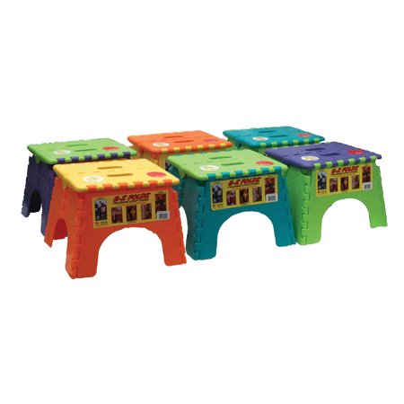 Miraculous Br Plastics 101 6Tt E Z Foldz Folding Step Stool 9 Assorted Two Tone Colors 6 Pack Squirreltailoven Fun Painted Chair Ideas Images Squirreltailovenorg