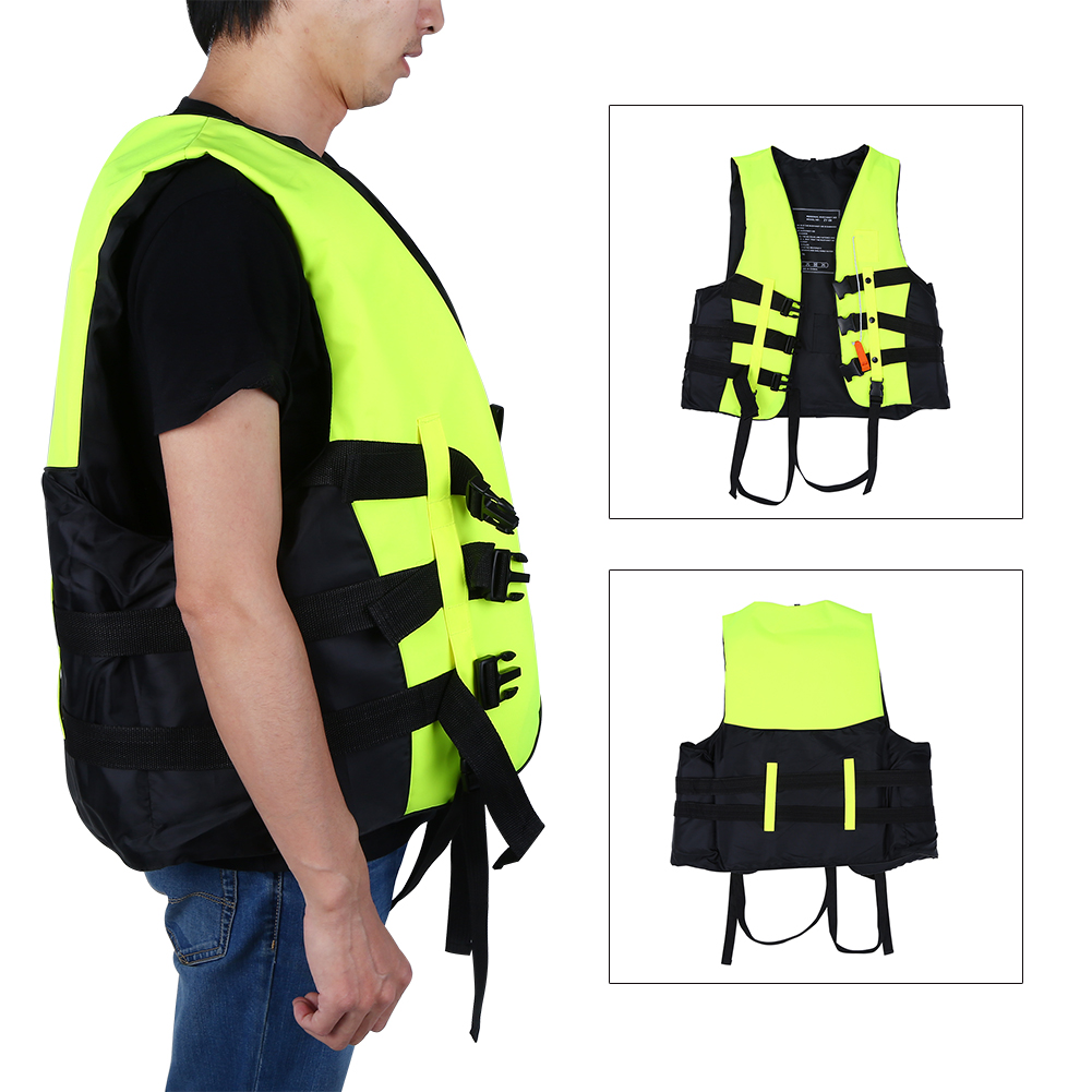 Hilitand Life Jackets with Whistle 5 Sizes Universal Foam Adult Aid Life Jacket Boating Skiing Safety Vest for Jet... by