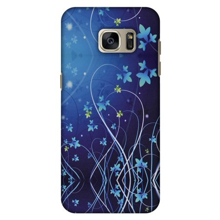 Lily Cell Phone Snap - Samsung GALAXY S7 Edge Case, Premium Handcrafted Designer Hard Shell Snap On Case Printed Back Cover with Screen Cleaning Kit for Samsung GALAXY S7 Edge SM-G935F, Slim, Protective - Midnight Lily