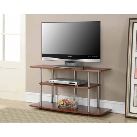 Convenience Concepts Designs2Go No Tools 3 Tier Wide TV Stand, Cherry