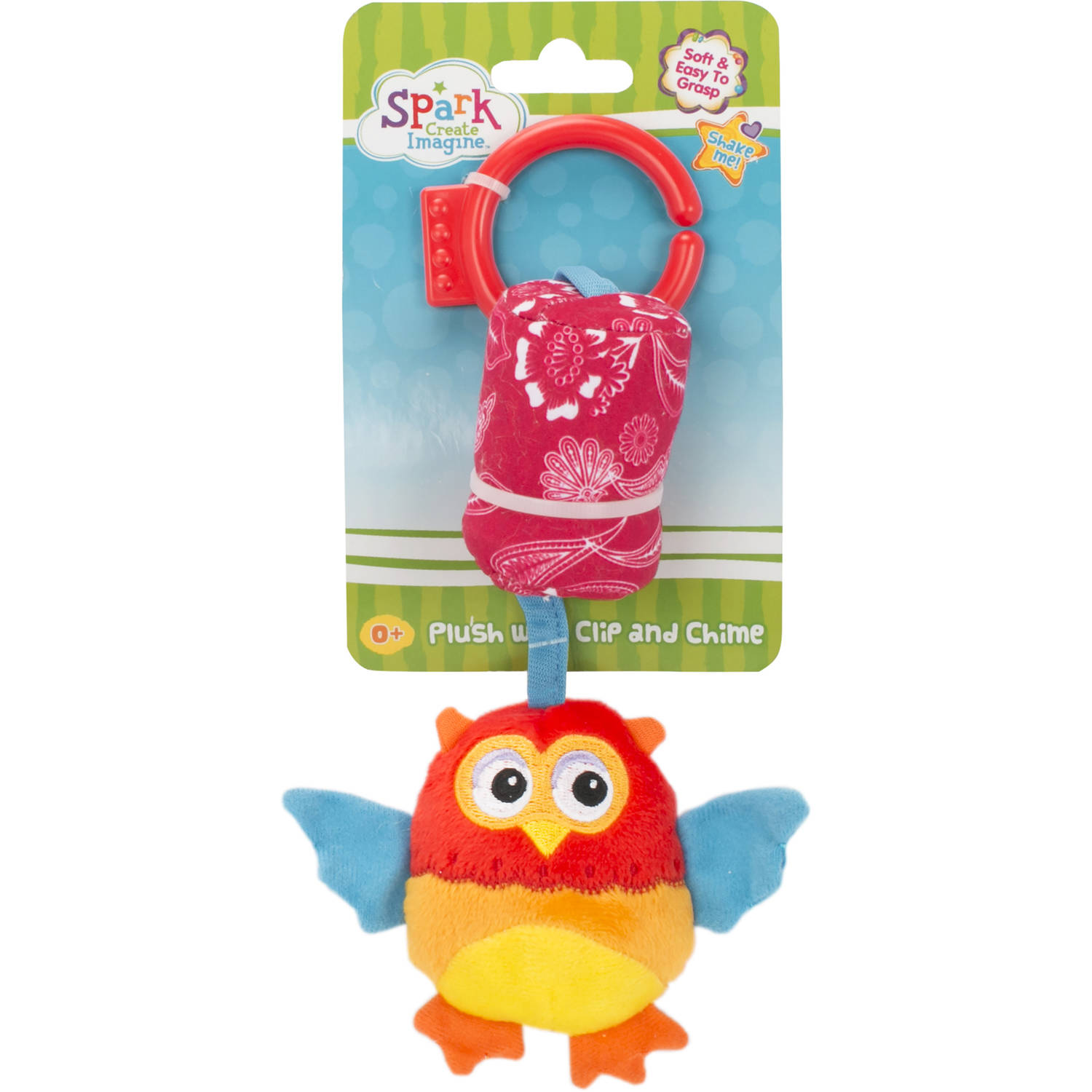 Spark Create Imagine Plush with Clip and Chime, Owl