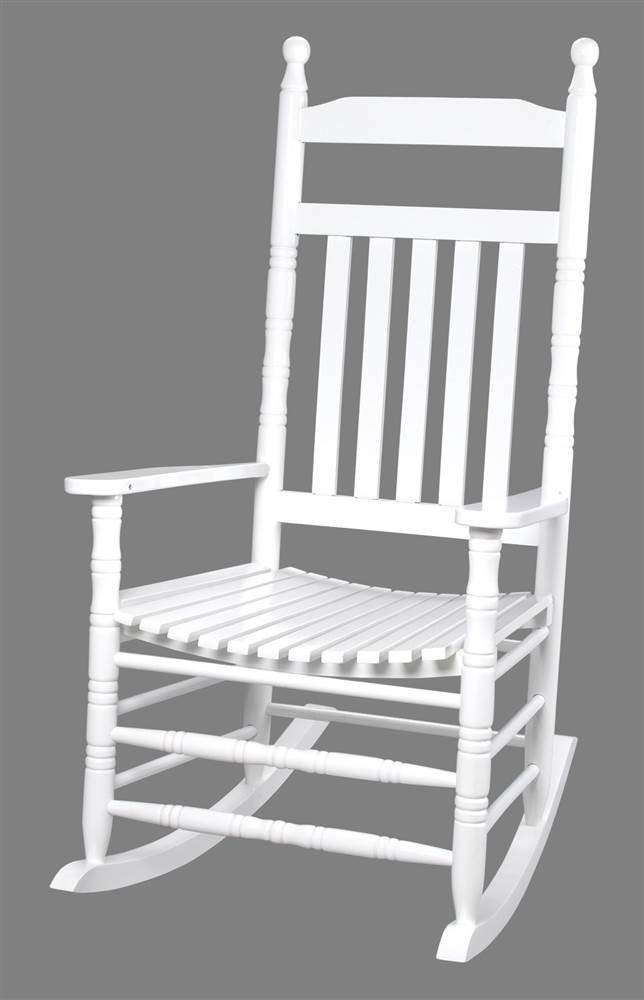 33 in. Tall Back Rocking Chair in White by Gift Mark