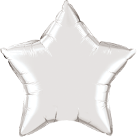 "Way To Celebrate 20"" Star Silver Foil Balloon"