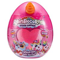 Rainbocorns Sequin Surprise Collectable Plush in Giant Mystery Egg by ZURU
