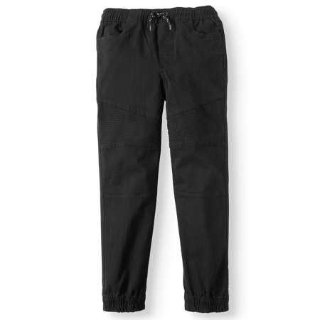 Stretch Air Pants - Pull On Stretch Twill Moto Jogger Pant (Big Boys)