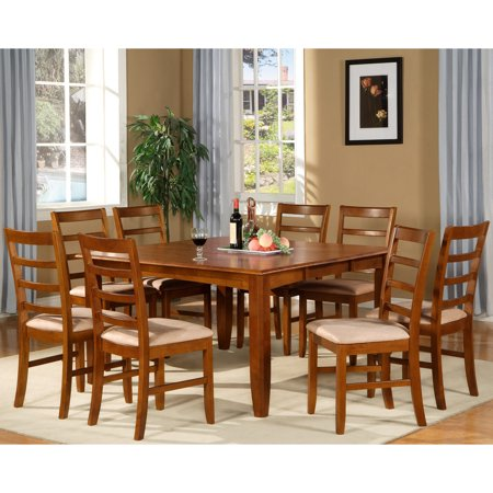 Parf9 sbr c 9 piece formal dining room set square dining for 9 piece formal dining room sets