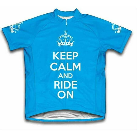 Ride Print Jersey - Scudo Keep Calm and Ride On Microfiber Short-Sleeved Ladies' Cycling Jersey, Assorted Sizes