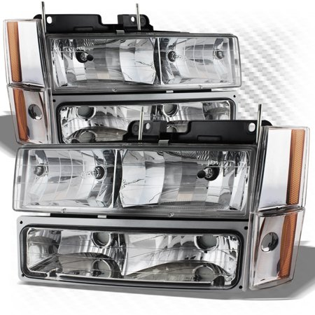 For 1988-1993 GMC/Chevy C/K Truck Headlights + Bumper And Corner Lights Completed Pair Left+Right 1989 1990 1991 1992