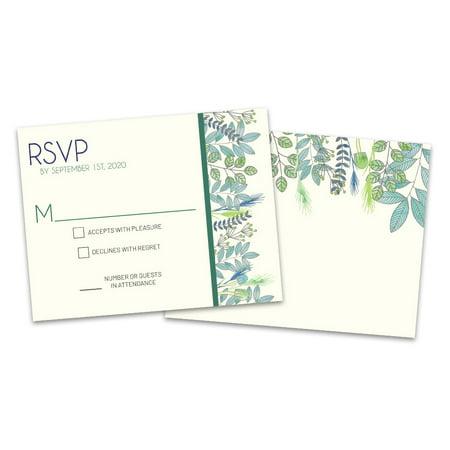 Wedding Response Cards.Personalized Botanical Wedding Rsvp Cards