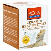 Aqua Culture Ceramic Heat Emitter for Reptiles, Non-Light, 100 Watts