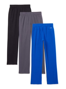 Athletic Works Boys Mesh DriWorks 3-Pack Pants, Sizes 4-18 & Husky