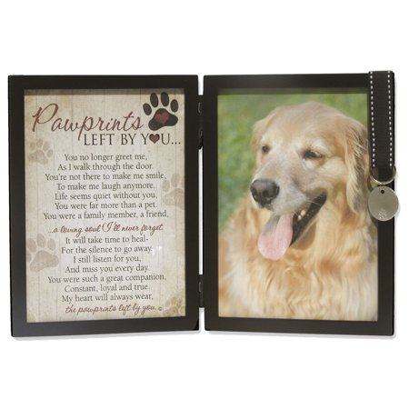 Pawprints Left By You Memorial 5x7 Photo Frame for Dog with Pet