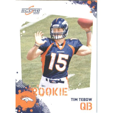 Tim Tebow RC - Denver Broncos (RC - Rookie Card) 2010 Football Card - NFL Trading Card in Screwdown Case, One Single 2010 Score NFL Trading Card of the.., By SCORE Ship from US - Football Broncos