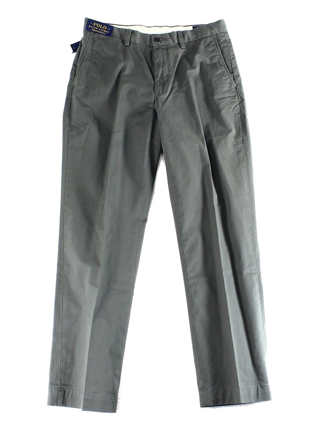 Polo Ralph Lauren NEW Gray Mens Size 34X30 Classic Fit Khakis Pants