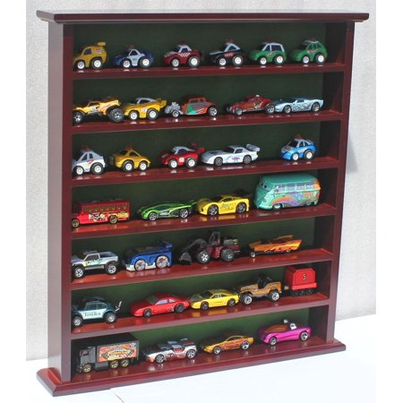 Hot Wheels Matchbox 1/64 scale Display Case Stand, NO DOOR, HW-GB20-MAH, Craftd from solid beechwood, The no door feature actually is good for kids to access.., By DisplayGifts Ship from US