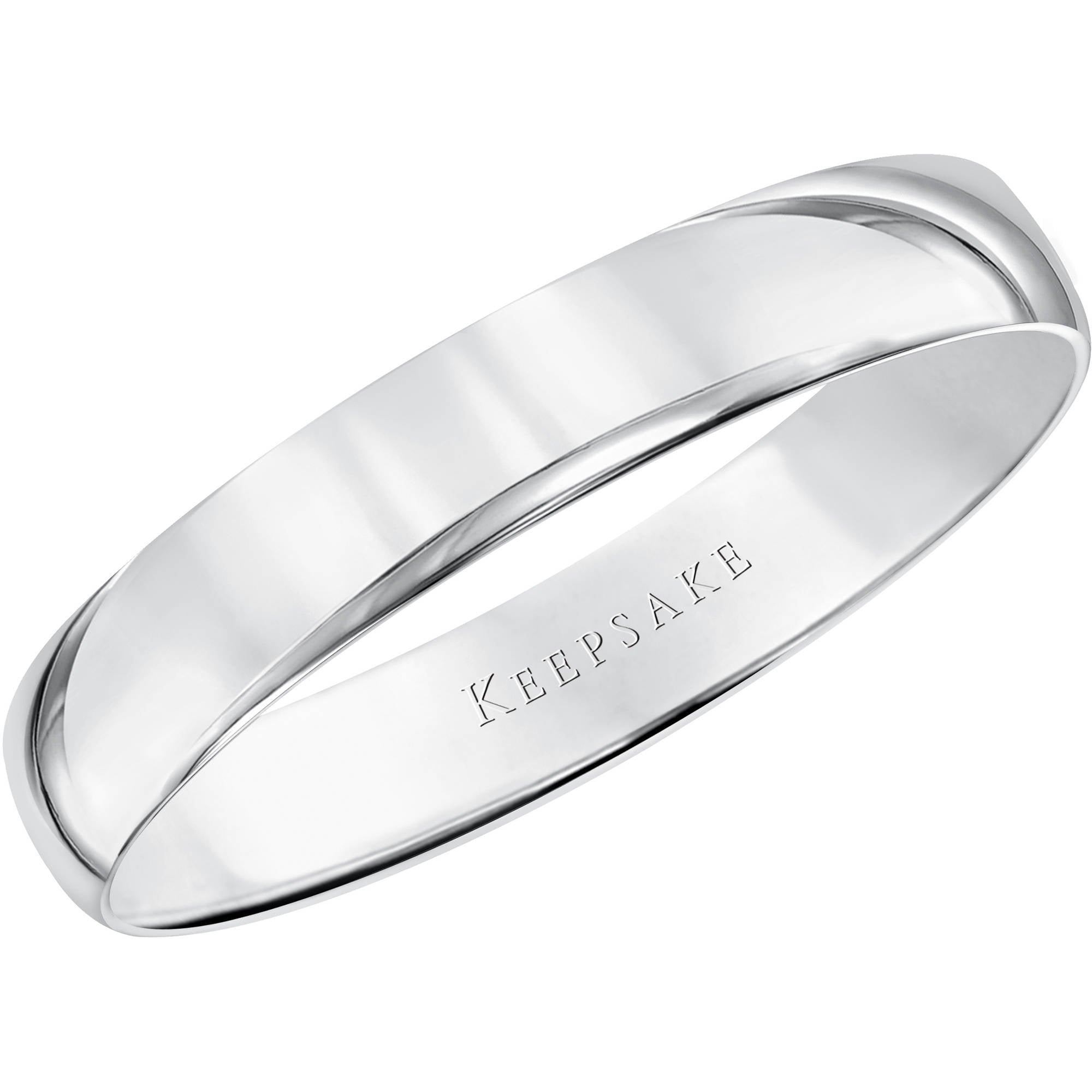 Keepsake 10kt White Gold Comfort Fit Wedding Band, 5.5mm by Frederick Goldman