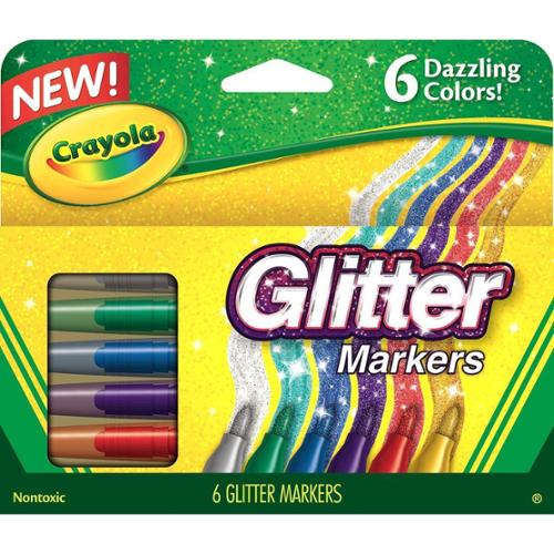 Crayola Glitter Markers 6 Pkg - by Overstock