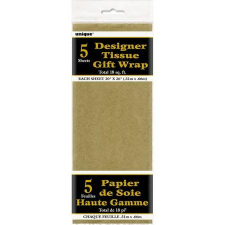 Designer Tissue Gift Wrap, Metallic (Pack of 2)