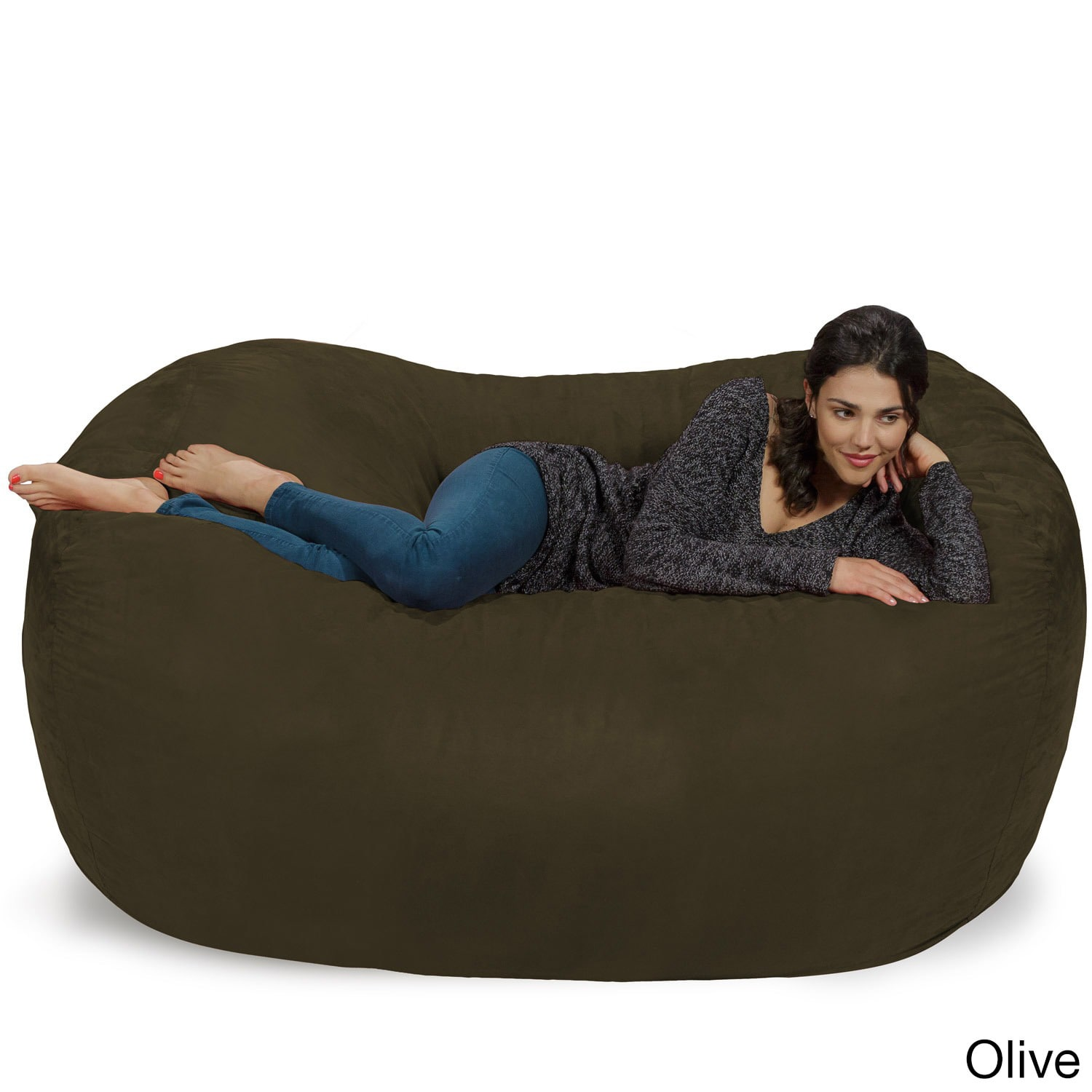 Theater Sacks LLC Large Memory Foam Micro Suede Beanbag Couch