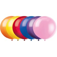 Latex Round Giant Balloons, 36 in, Assorted, 6ct