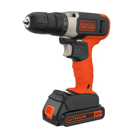 BLACK+DECKER 20-Volt MAX* Lithium Cordless Drill,