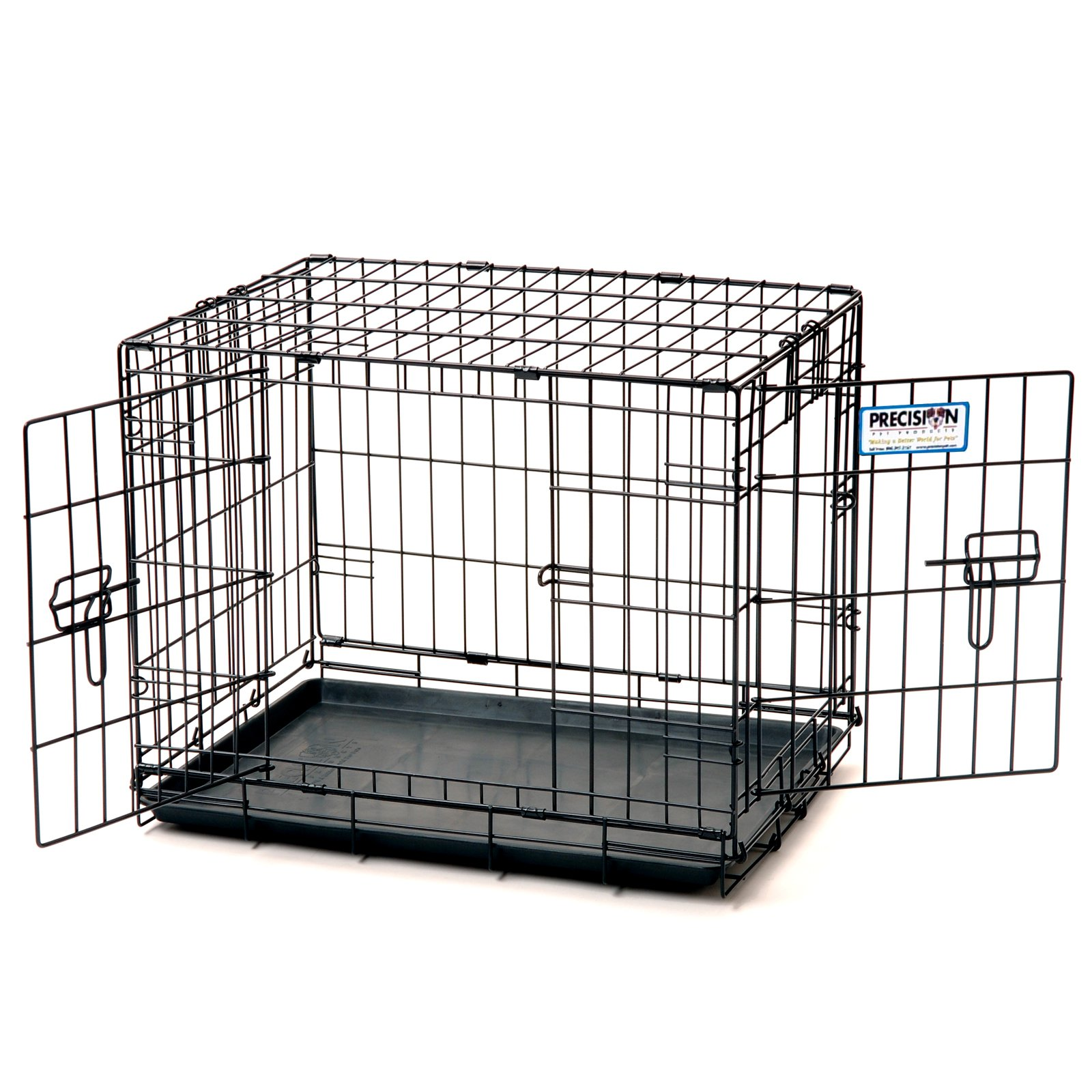 "Precision Pet Pro Valu Great Crate - Two Door 1000 - Pets up to 10 lbs - (19""L x 12""W x 14""H)"