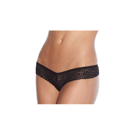 Coquette Black Lace Panty W/ Pearl Crotch 116-B Black (Pearl Crotch)