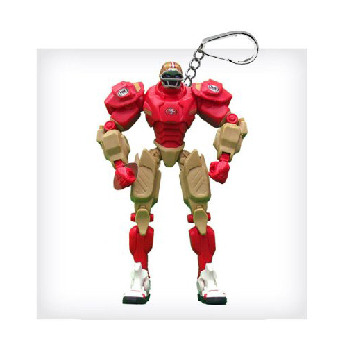 "NFL FOX Sports 3"" Robot Cleatus Action Figure Key Chain - San Francisco 49ers"