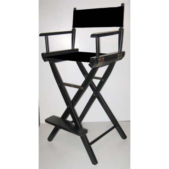 Director S Canvas Chair W Folding Black Finish Frame Amp 30